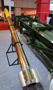 Pinaka rocket with its fins unfolded alongside its launcher