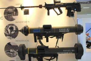 SIMON door busting grenade on TAVOR assault rifle, MATADOR (Man-portable Anti-Tank, Anti-DOoR) (RGW-90) AS and WB anti-armor weapon systems