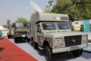 TATA Light Specialist Vehicle with Mobile Bunker in background