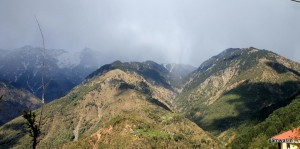 Mcleodganj. View of mountains from Naddi