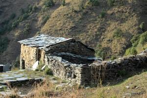 Abandoned stone hut