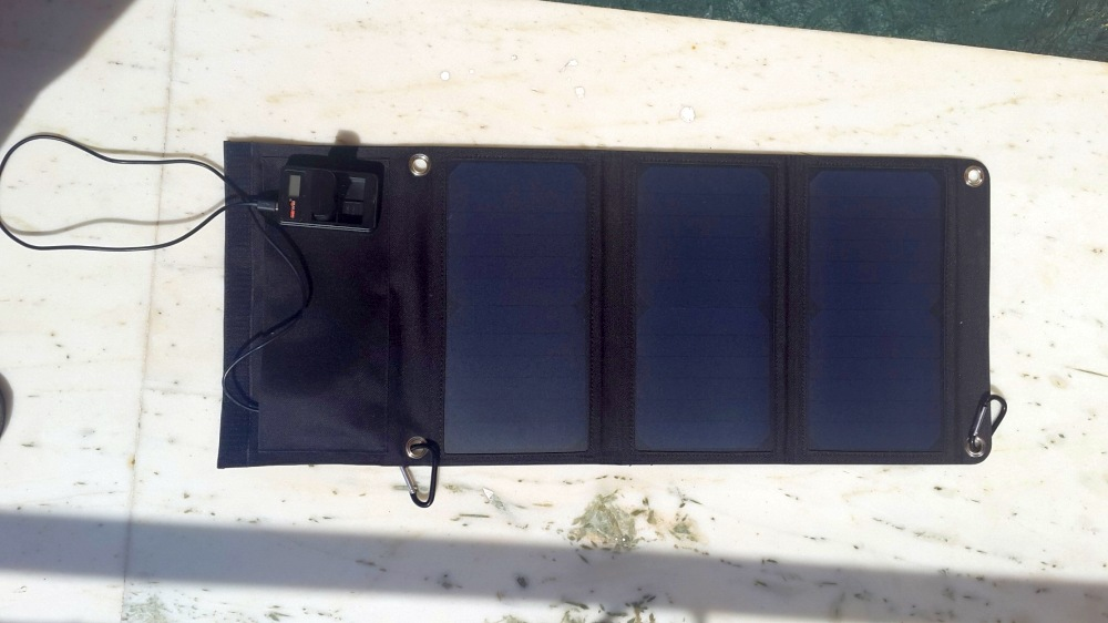 Solar charging for camera battery