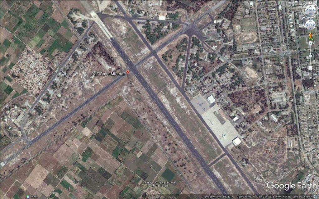 PAF Mushaf, Sargodha, runways