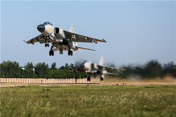 JH-7 taking off