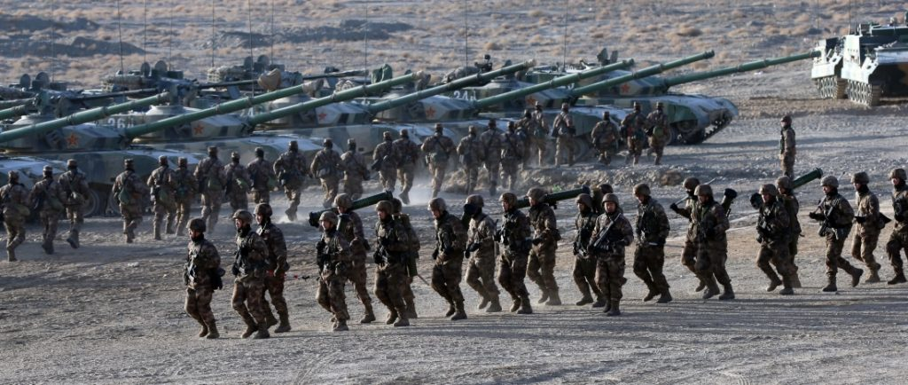 76th Group Army training in Gobi desert