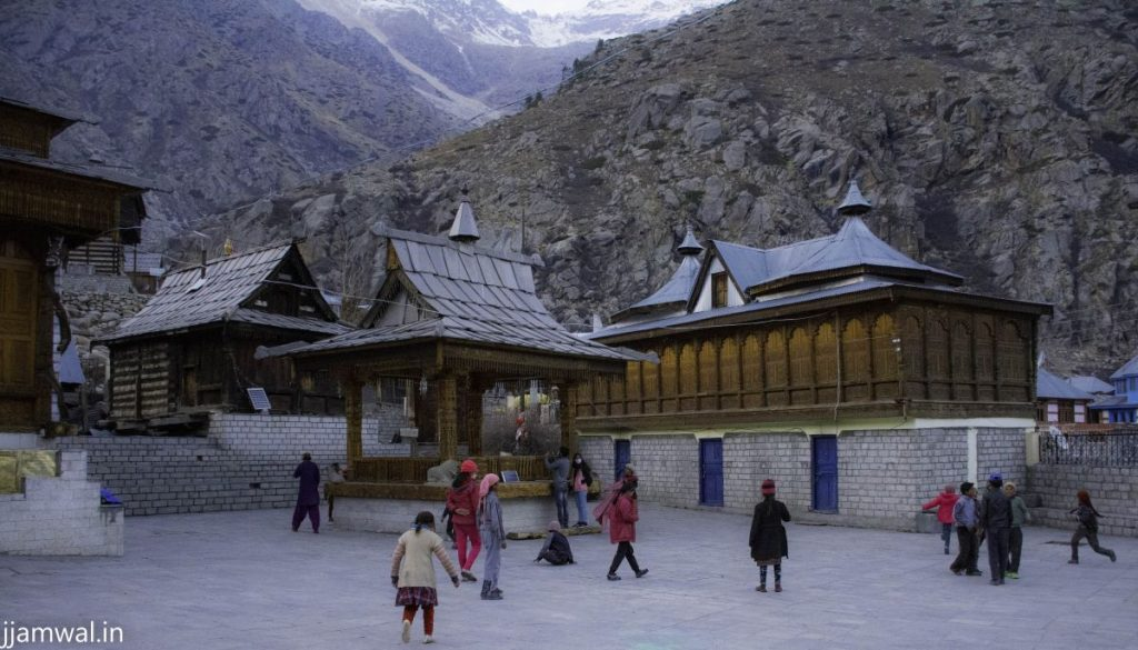 Village temple in evening